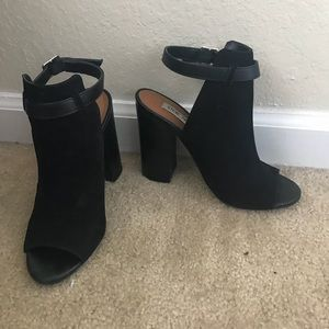 Steve Madden Black Peep Toe Booties